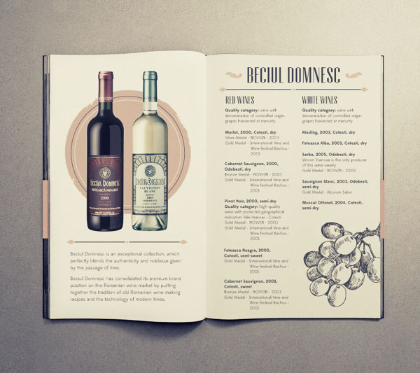 15 awesome retro vintage style brochure designs