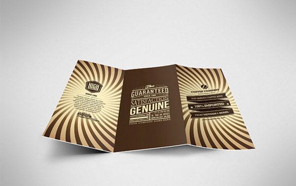 Retro Coffee Brochure Tri-fold