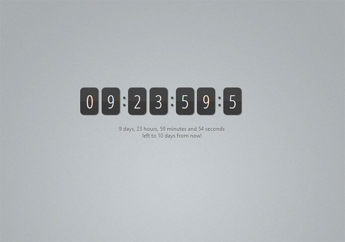 15 jquery css3 countdown timer scripts web graphic design