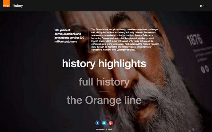 Orange History by http://www.uzik.com