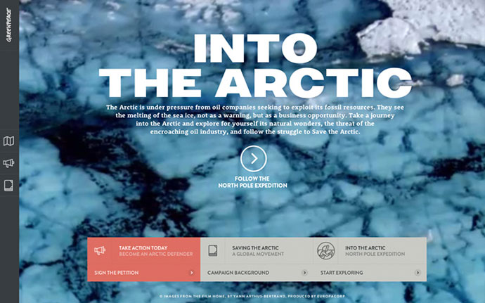 Into the Arctic - Greenpeace by http://www.hellomonday.com
