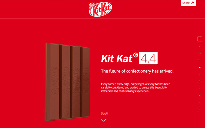 Welcome To Kit Kat 4.4 by http://JWT.co.uk