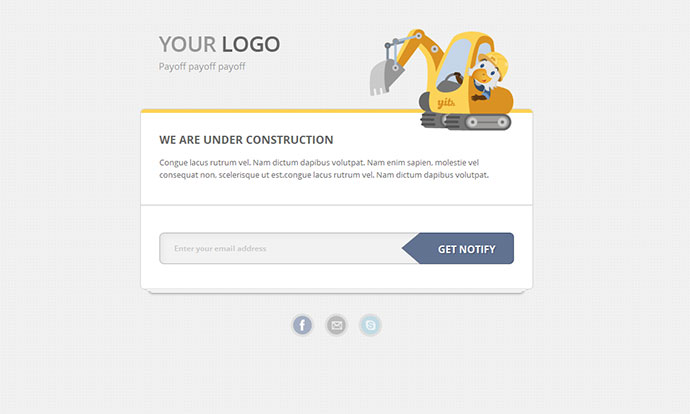 how to add under construction page in wordpress