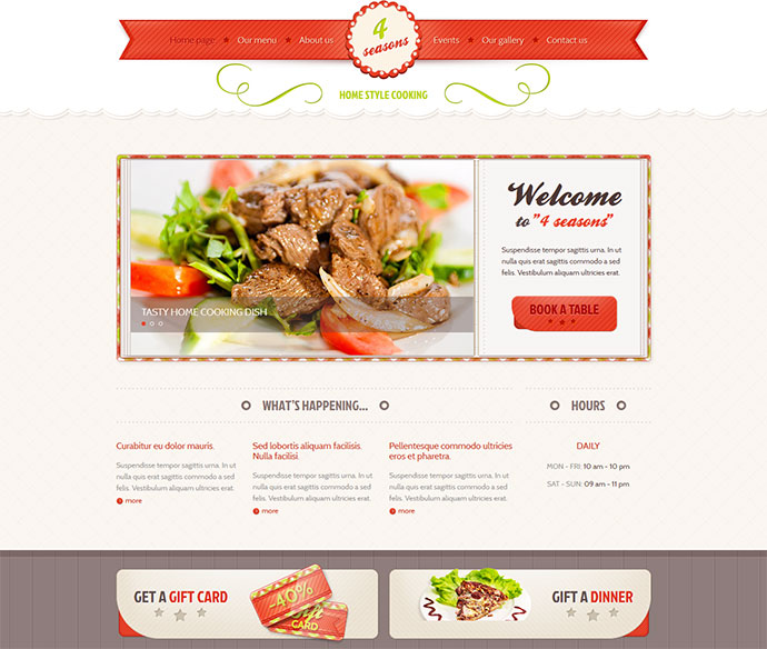 25 Best HTML Website Templates For Cafe Bar & Restaurant | Web ...