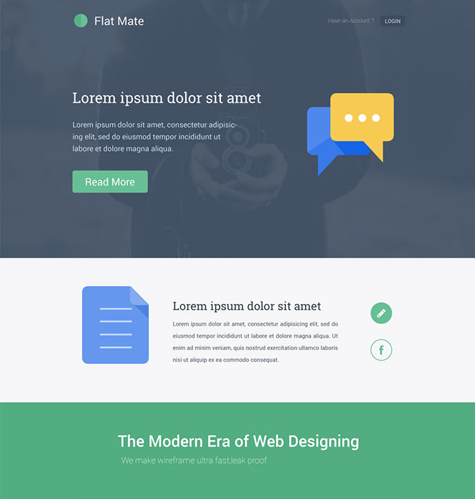 Free Design Templates Web Page