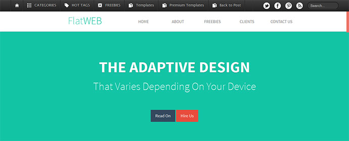 15 Free One Page Html Psd Website Templates Web Graphic Design