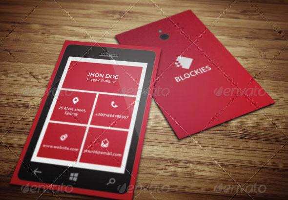 Smart Phone Business Card Template