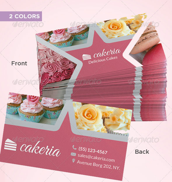 56 visually stunning psd business card templates web graphic cake cupcake business card flashek Choice Image