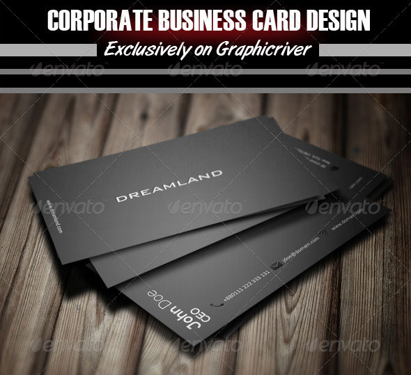 56 visually stunning psd business card templates web graphic dreamland corporate business card design colourmoves