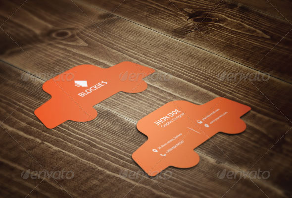 56 visually stunning psd business card templates web for Car shaped business cards