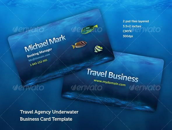 Mẫu thiết kế danh thiếp công ty du lịch