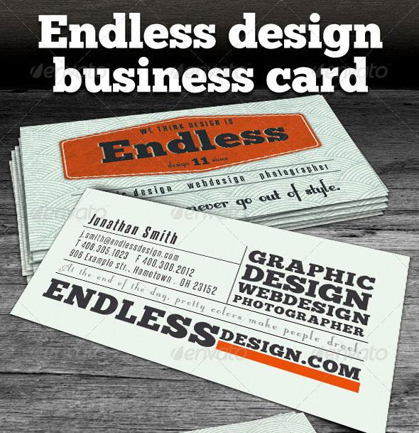 Endless Retro Business Card