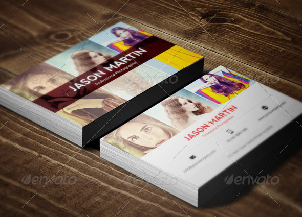 Visually Stunning PSD Business Card Templates Web Graphic - Photography business cards templates for photoshop