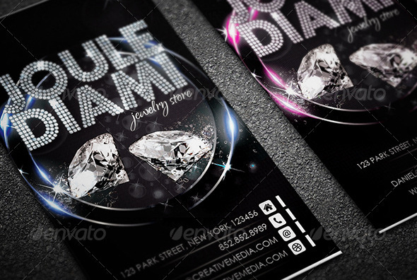 56 visually stunning psd business card templates web graphic jewelry store business card reheart Image collections