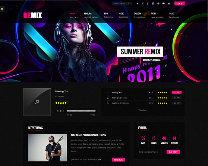 29 best html website templates for bands  u0026 musicians