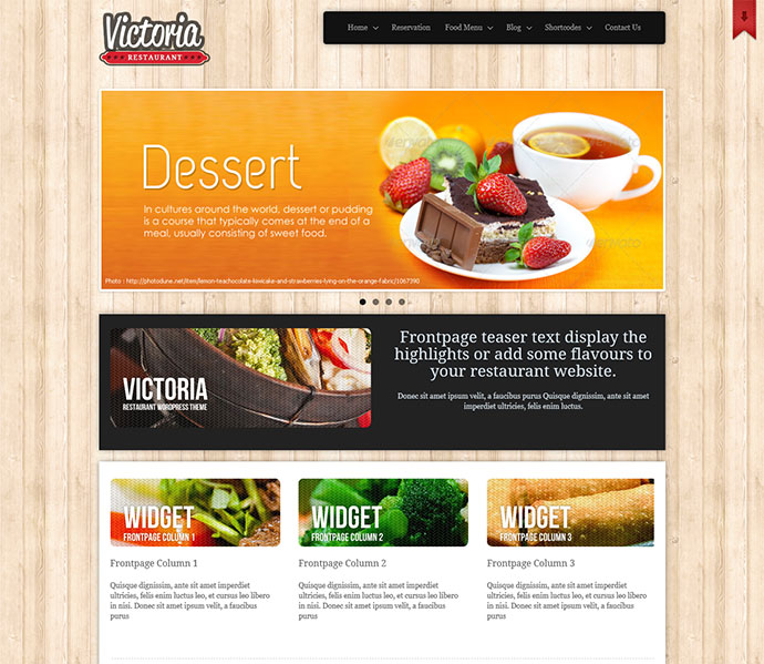 25 best html website templates for cafe bar restaurant web victoria restaurant pronofoot35fo Choice Image