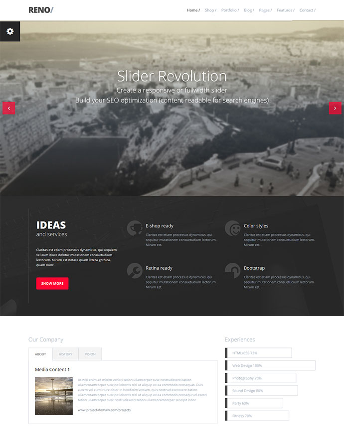 25 Responsive Bootstrap 3 HTML Website Templates | Web & Graphic ...