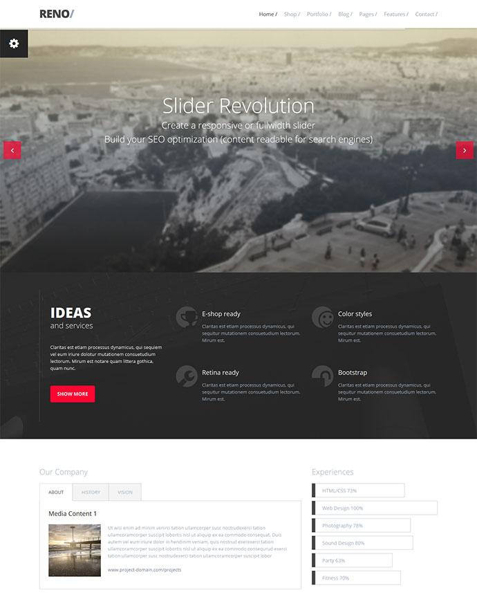 25 Responsive Bootstrap 3 Html Website Templates Web Graphic Design On Bashooka