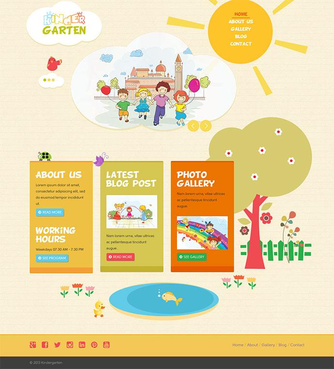 Kindergarten - Bootstrap 3 HTML Template