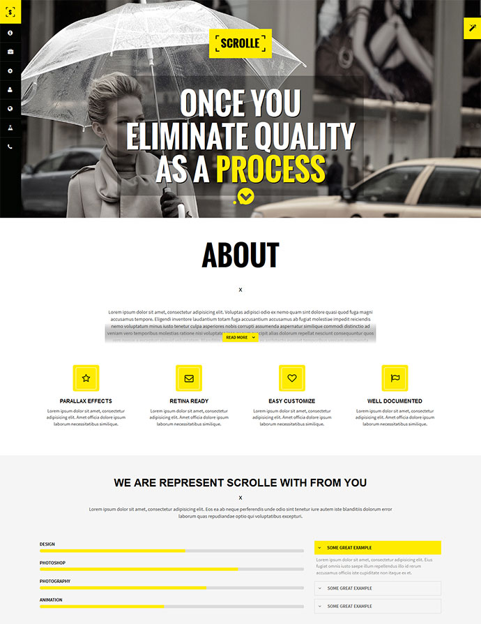 Scrolle Responsive Parallax One Page Template