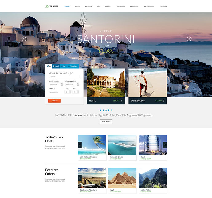 Travel Agency - Responsive HTML5 Template