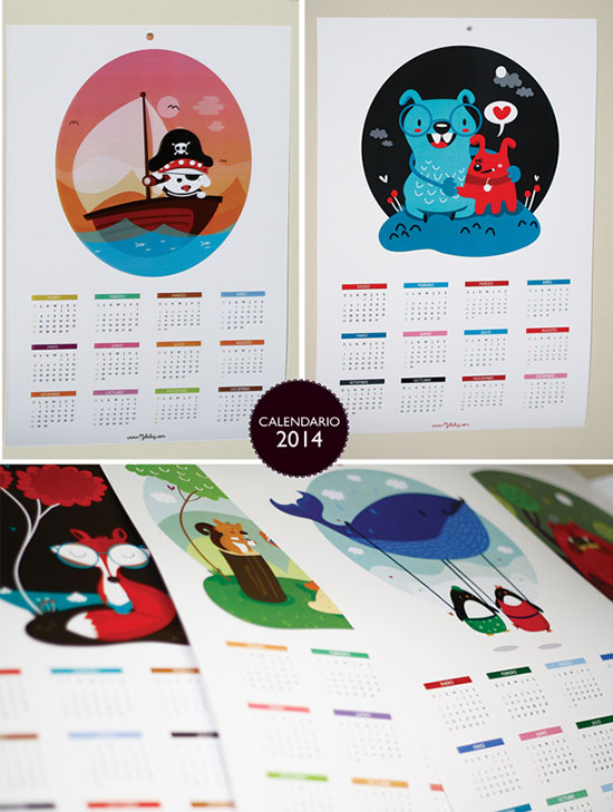 Creative Calendar Themes : Cool creative calendar design ideas for web
