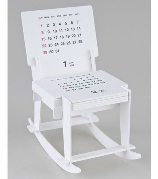 Rocking Chair Sculpture Calendar
