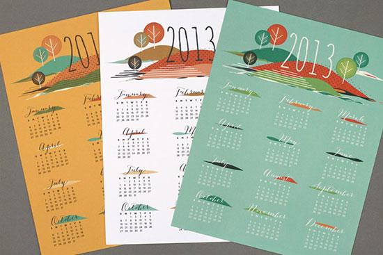 free printable 2013 calendars - from love vs design