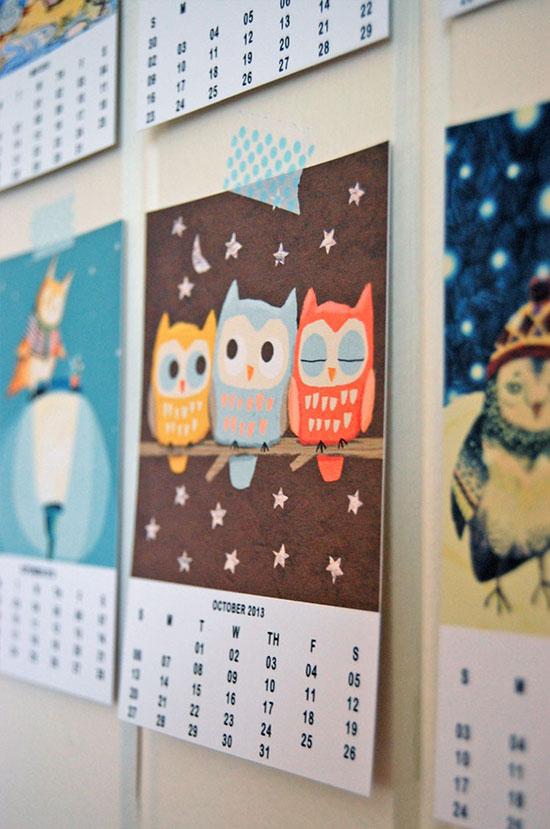 Gi det videre: Owl Lover Calendar 2013 – free download