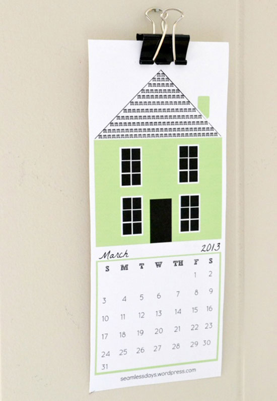 Hope and a Home (free Printable 2013 Calendar in various sizes) to support Bring Love In seamlessdays.word...
