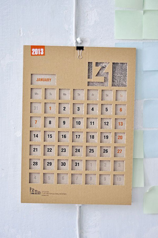 Calendar Ideas Design : Cool creative calendar design ideas for web