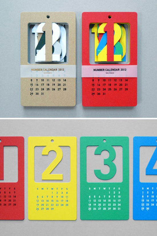 Unique Table Calendar Design : Cool creative calendar design ideas for web