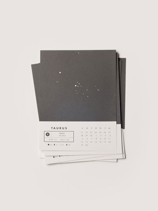 Calendar Design Zodiac : Cool creative calendar design ideas for web