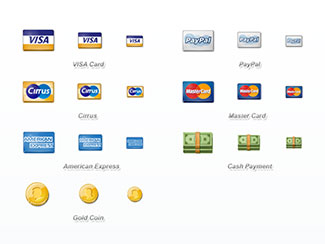 Perfect icons for e-commerce sites & websites
