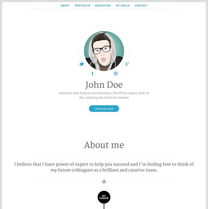 50 Professional HTML Resume Templates | Web & Graphic Design | Bashooka