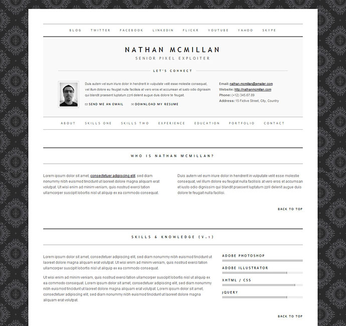 minimalme - Resume Template Color
