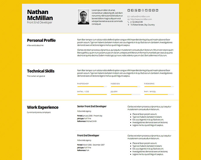 Engineering Cv Template Engineer Manufacturing Resume Industry