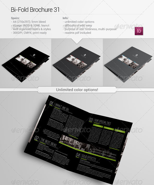 Sample Bi Fold Brochure It Company Brochure Design Designers