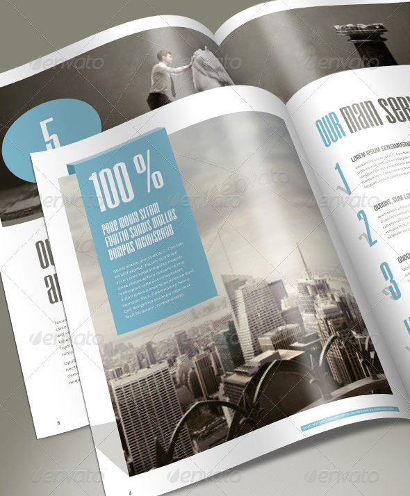 High Quality InDesign Brochure Templates Web Graphic Design - Corporate brochure template