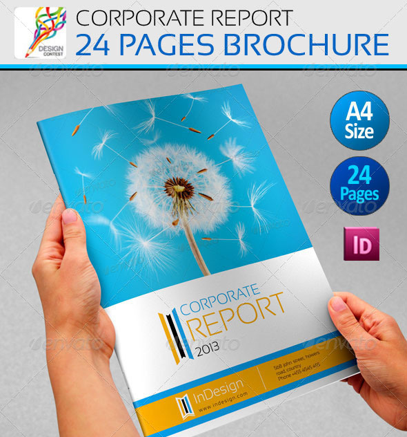 High Quality InDesign Brochure Templates Web Graphic Design - Company brochure templates free download