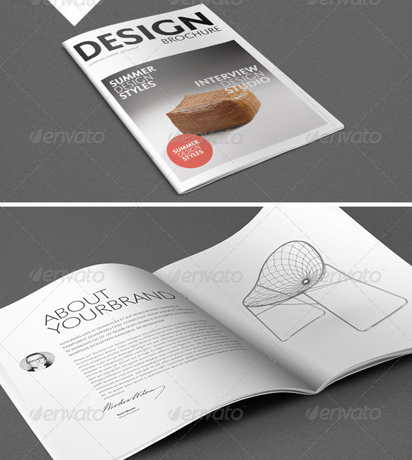 30 high quality indesign brochure templates web for Indesign interior