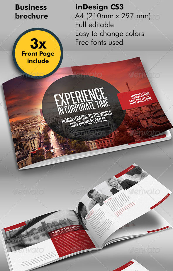 Red Black Design Brochure