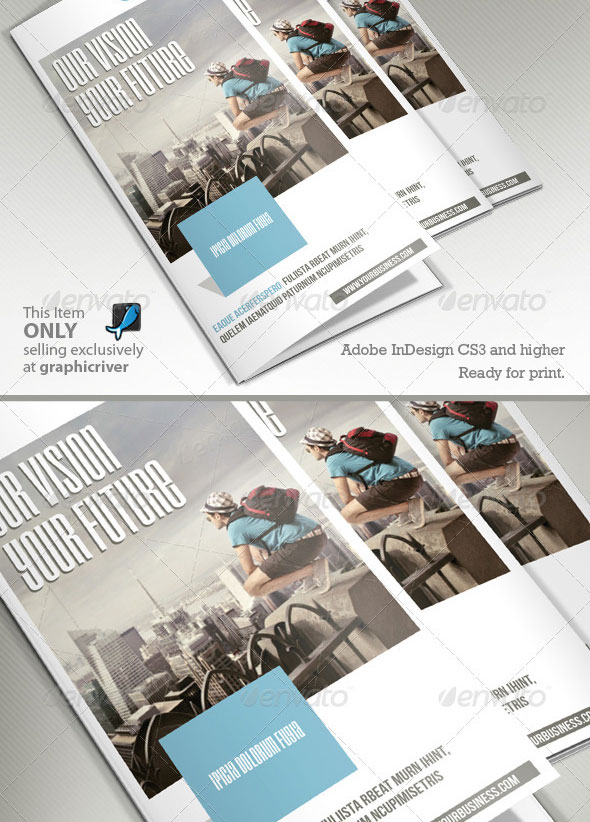 High Quality InDesign Brochure Templates Web Graphic Design - Bi fold brochure template indesign