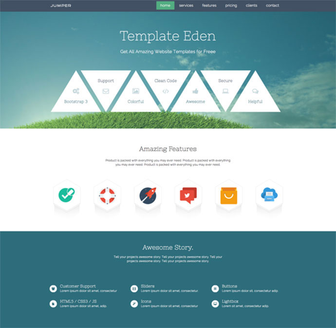 15 Free One Page HTML & PSD Website Templates | Web & Graphic ...