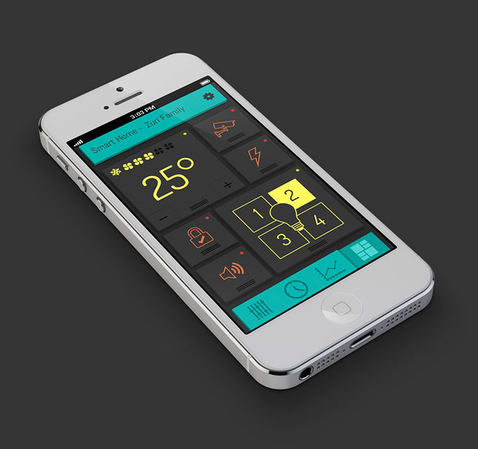 Ui Design Ideas 20 fantastic examples of flat ui design in apps ultralinx Smart Home By Eyal Zuri