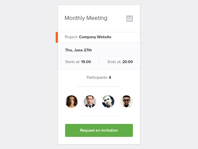 Meeting Widget By Ionut Zamfir