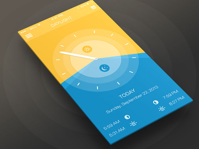 Daylight App ios7 By Anke Mackenthun