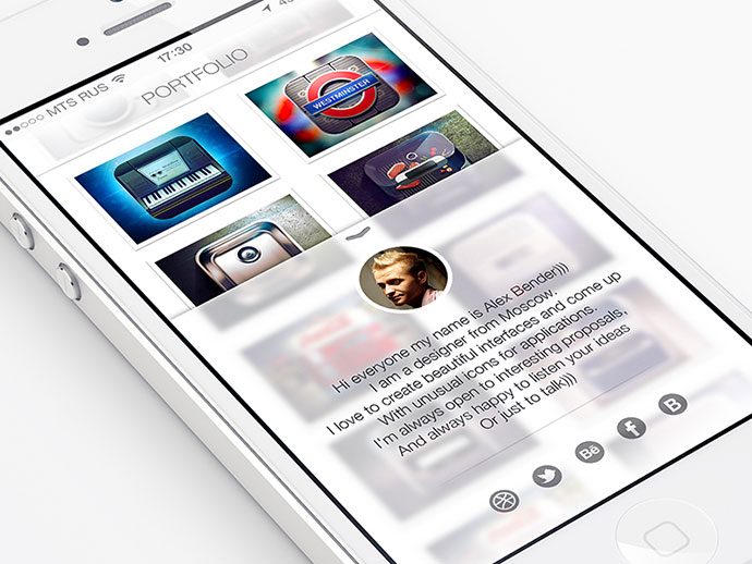 Mobile Portfolio iOS 7 By ALEX BENDER
