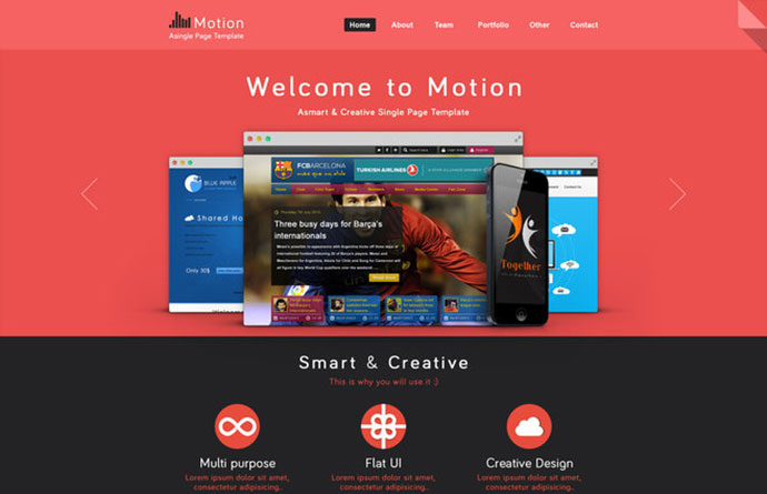 motion_single_page_psd_web_template_for_free 11 - Free Website Design Templates