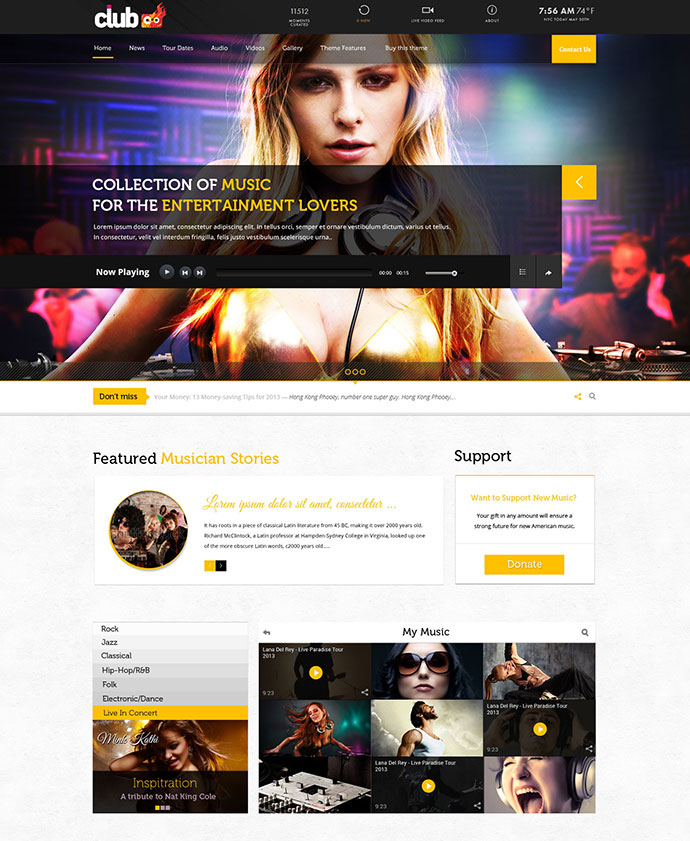 29 best html website templates for bands musicians web graphic rockon maxwellsz